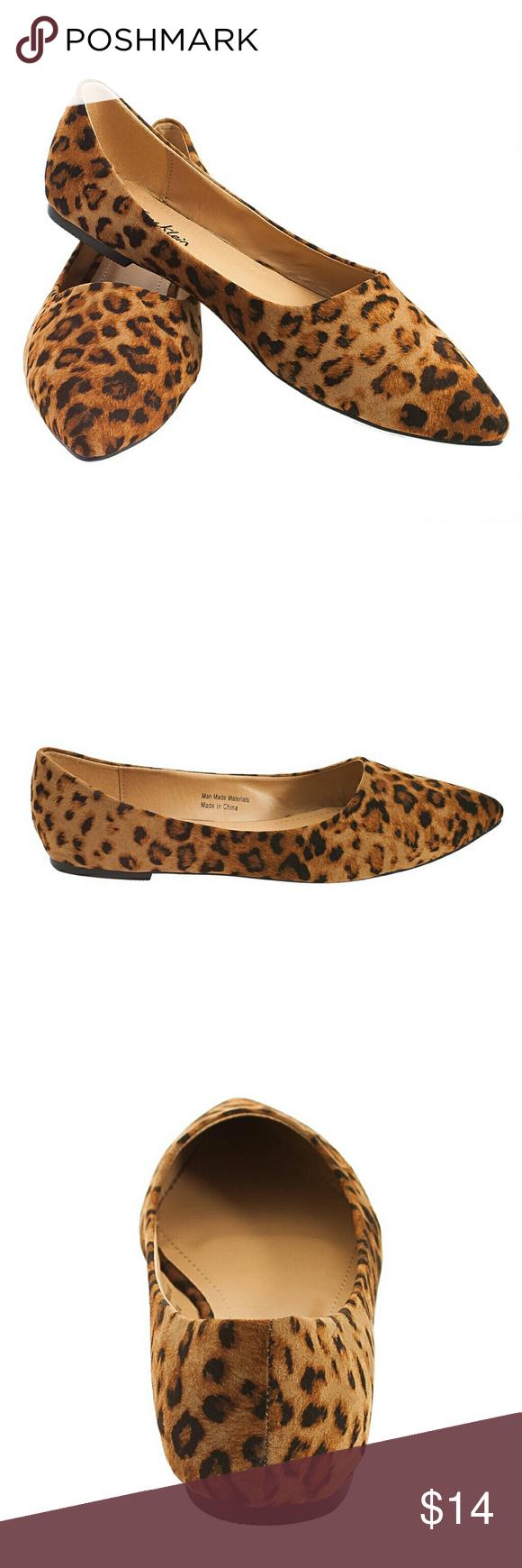 6d6c0066f Tory K Leopard Flats, b-1350, Dark Brown Brand new Tory K dark leopard  pointy toe woman ballerina flats. Comfortable padded sole.