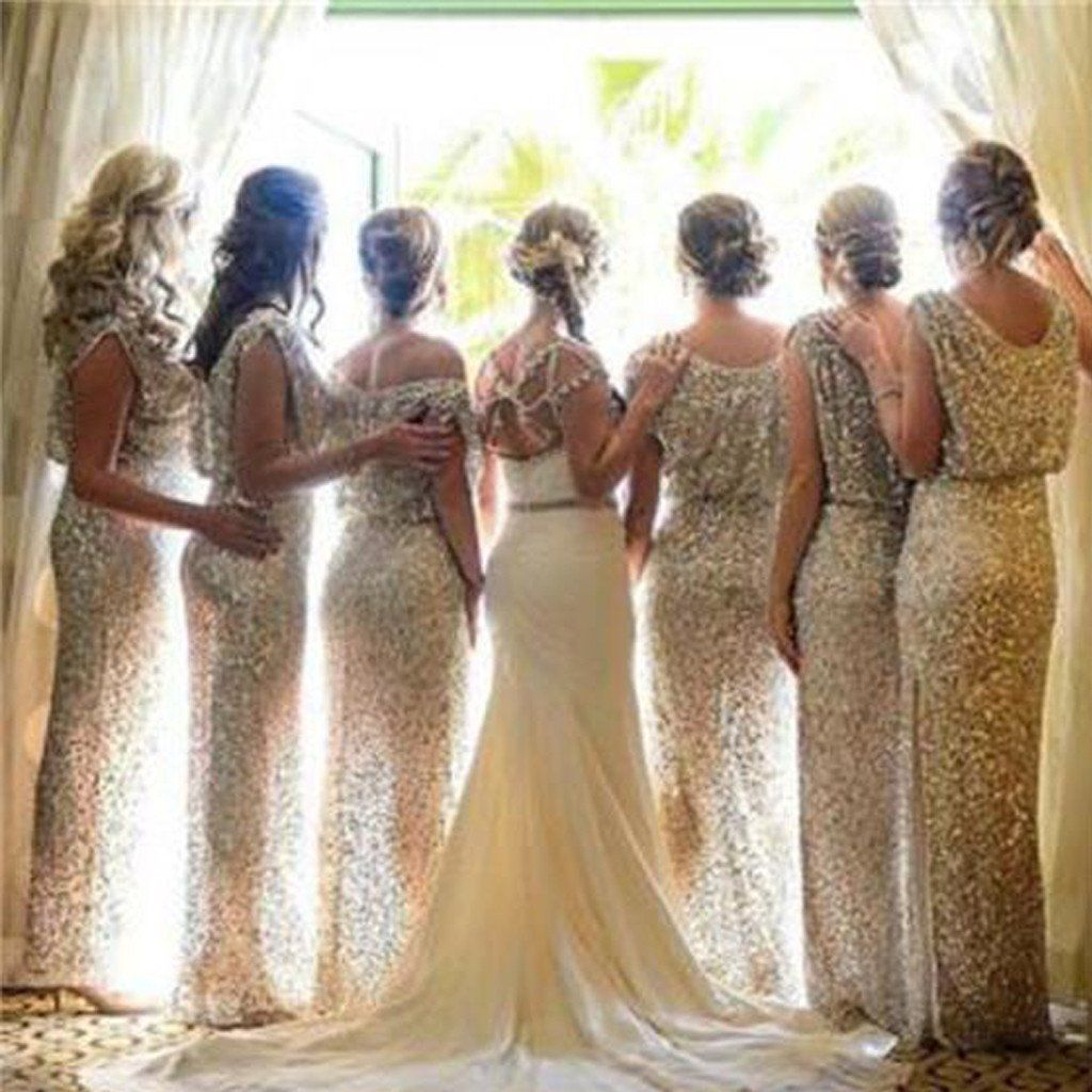 Popular sparkly bling sequin long on sale wedding guest dresses