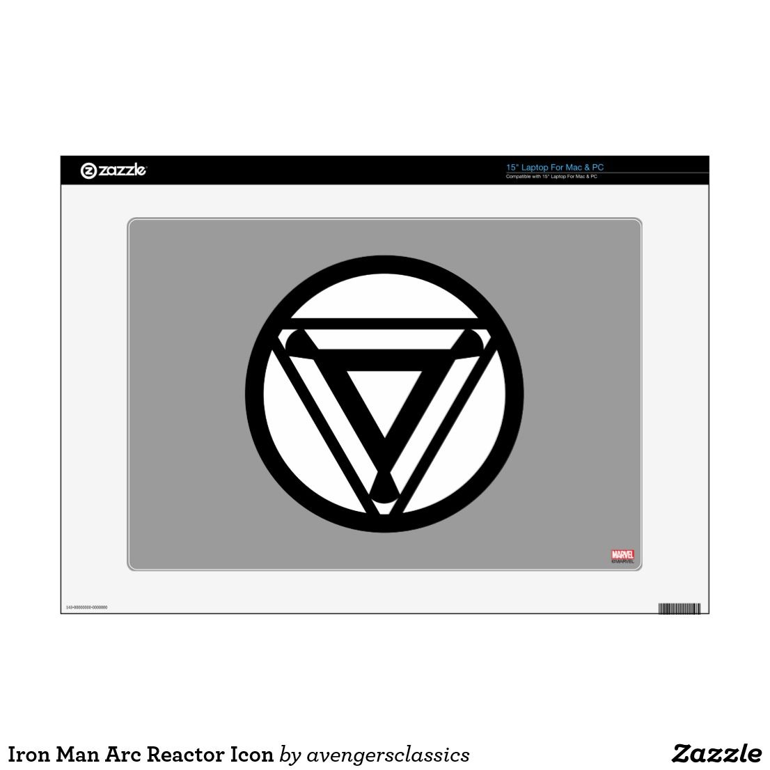 Iron Man Arc Reactor Icon Decal For 15