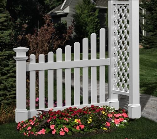 New England Arbors Cottage Picket Wings At Menards Landscaping - Does menards install fences