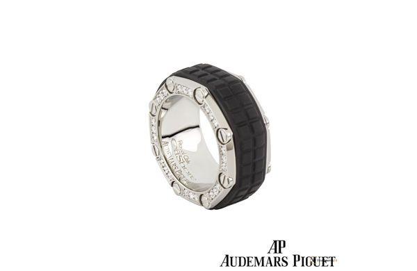 A Anium Diamond Set Ring From The Audemars Piguet Royal Oak Offs Collection Damenring