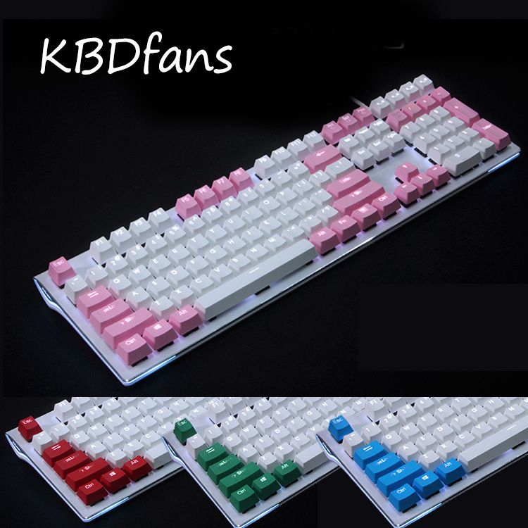 108 key PBT Double shot Translucidus Backlit Keycaps For