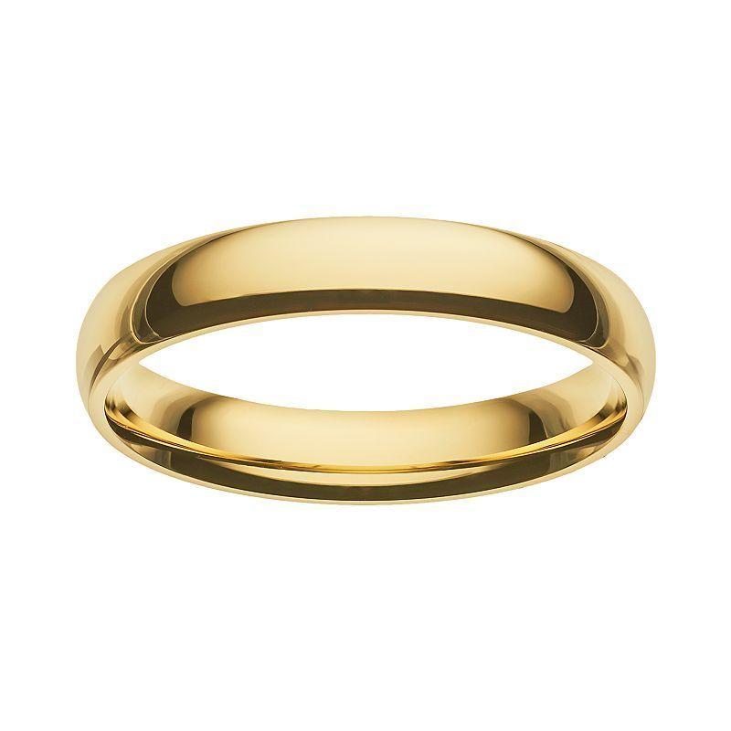Cherish always 14k goldoverstainless steel wedding band