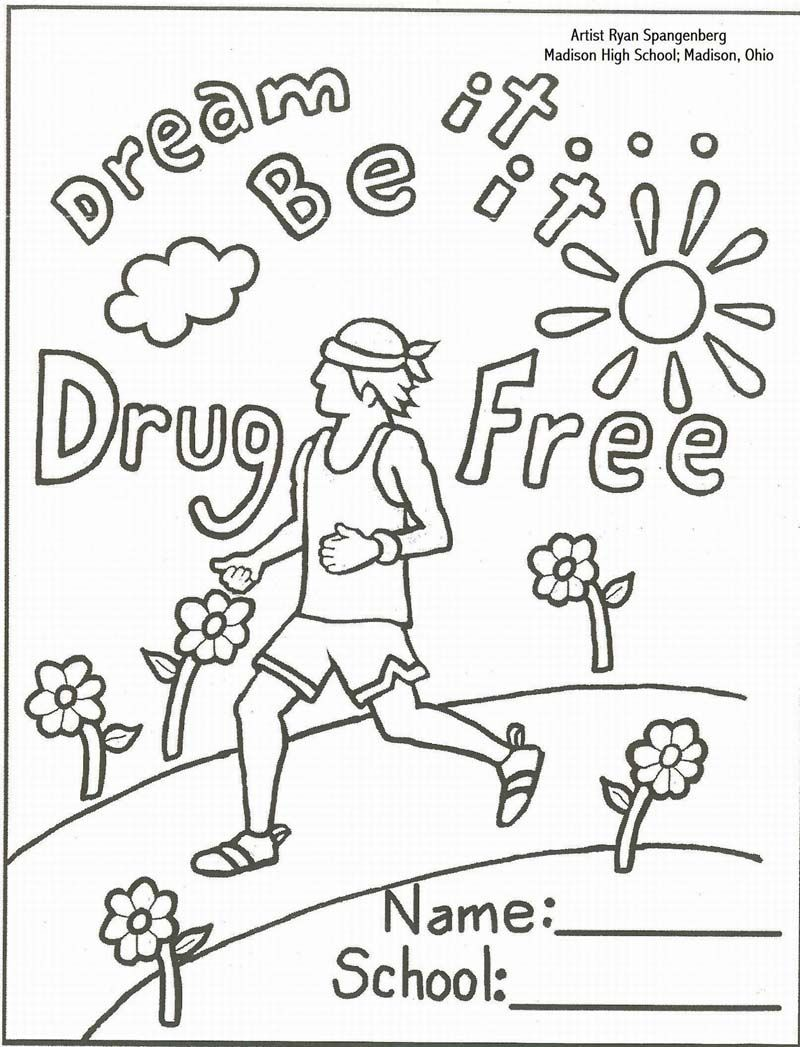 just say no coloring pages 02 transition games pinterest red