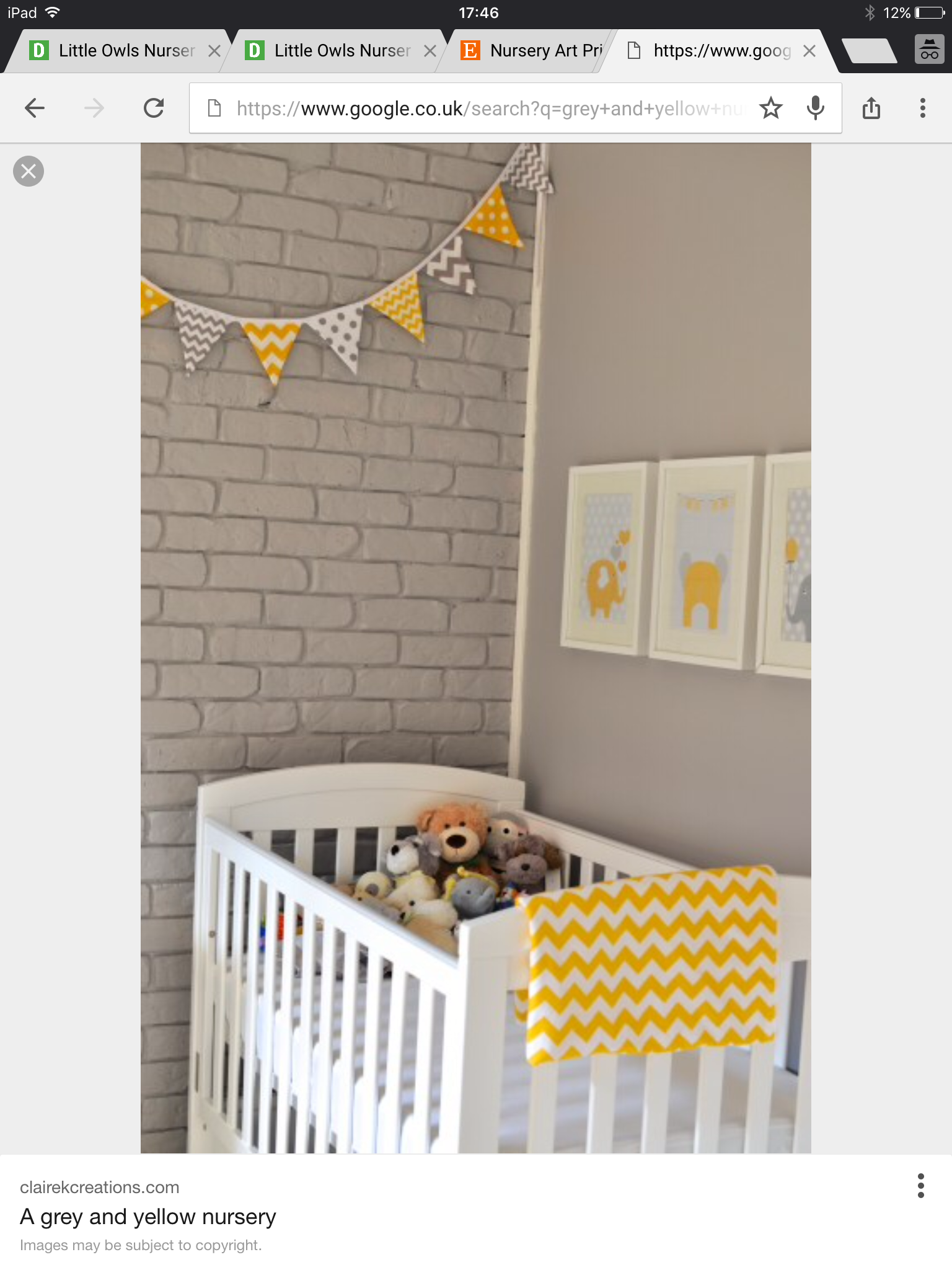 The grey and yellow nursery