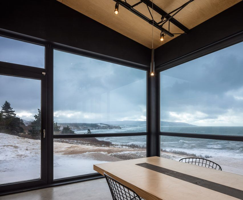 This holiday home in Nova Scotia has floortoceiling windows that