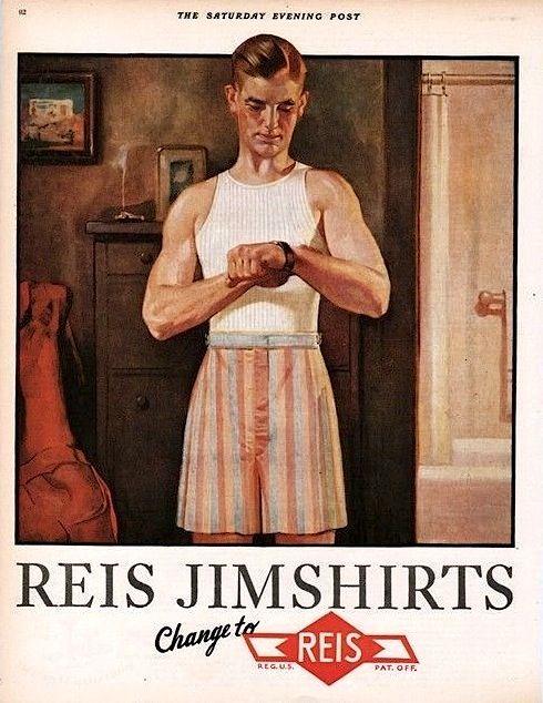91a7d7dcd1f 1928 Jimshirts ad. 1920s mens underwear.