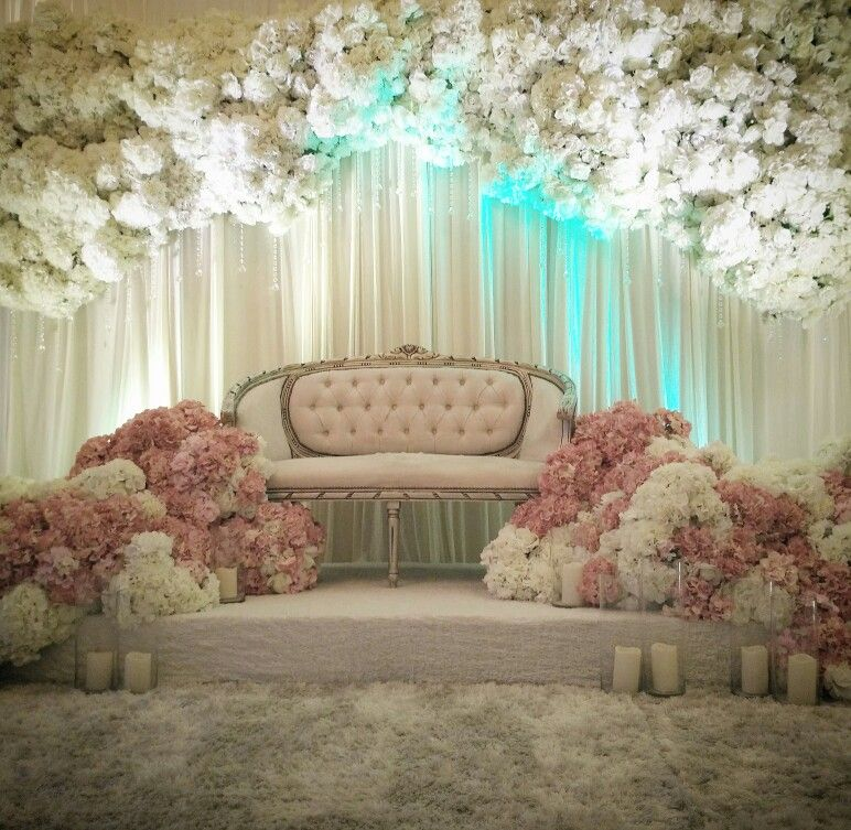 Wedding Nikah Simple Backdrop Decoration Muslim: Wedding Scene, Wedding Stage, Malay Wedding