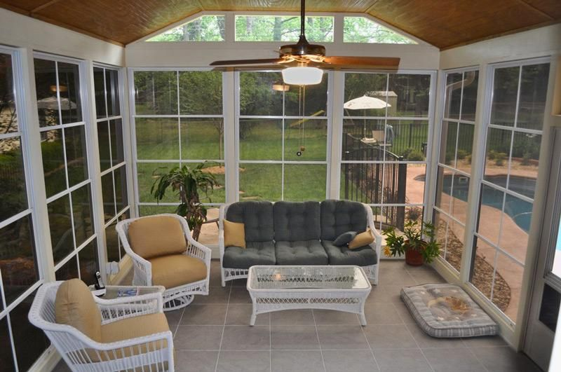 Roof Design Ideas: Charlotte Screen Porch And Open Porch