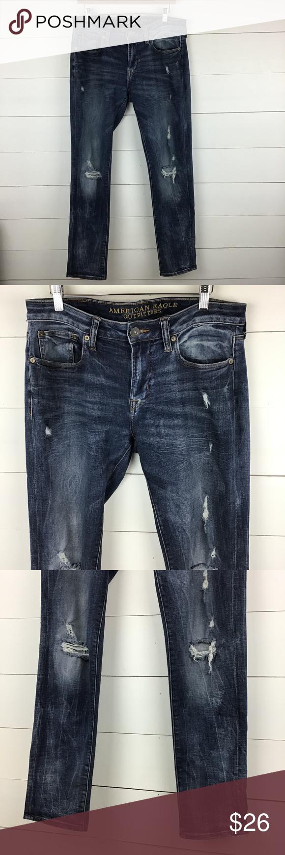 American Eagle Slim Straight Jeans sz: 34 in 2020
