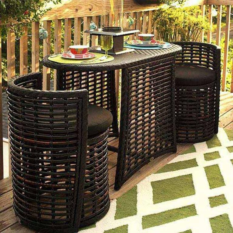 Admirable Tiny Furniture Ideas For Your Small Balcony Small Balcony Design Balcony Furniture Patio Furniture Sets