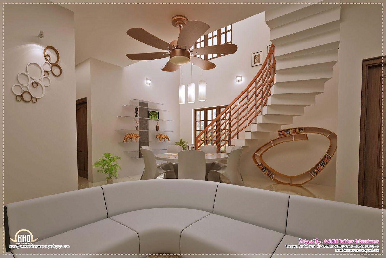 Kerala Home Interior Design Ideas For Stair Staircase - Home interiors india
