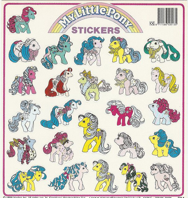 My Little Pony Sticker Sheet by Alpenfieber ♥, via Flickr