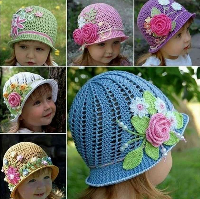 Crocheted hat for little girls