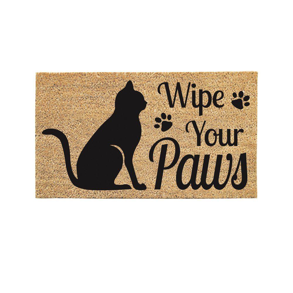 Wipe Your Paws Cat Welcome Coir Door Mat | Cat Stuff | Pinterest ...