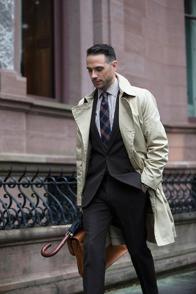 Menswear Classic  The Khaki Trench Coat   Clothing for Him ... 750d962310f1