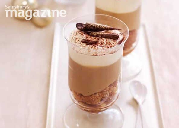 Not just mere trifles, these are Sarah Randell's cappuccino trifles with coffee liqueur from Sainsbury's magazine