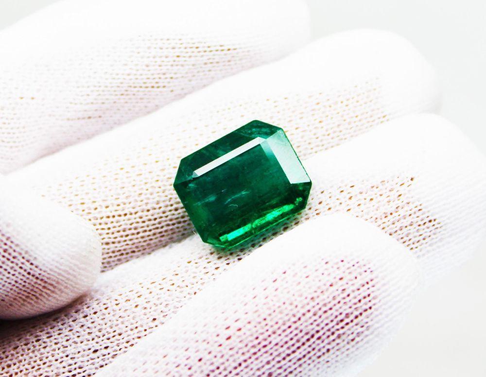 10.17 Ct Fine Natural Emerald Square Octagon Zambia UnTreated LooseGem Stone #RareGemIN