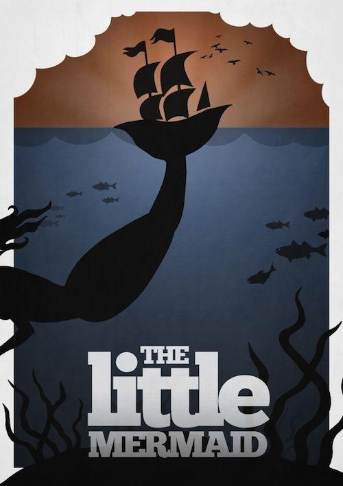 Elegant Minimalist Posters for Disney Movies