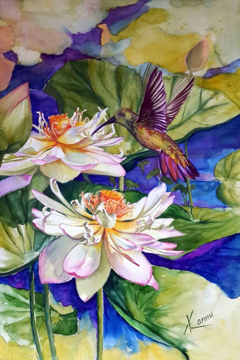 "Saatchi Art Artist Kannu Kanwaljeet; Painting, ""FREEDOM TO FLOAT AND FLY"" #art"