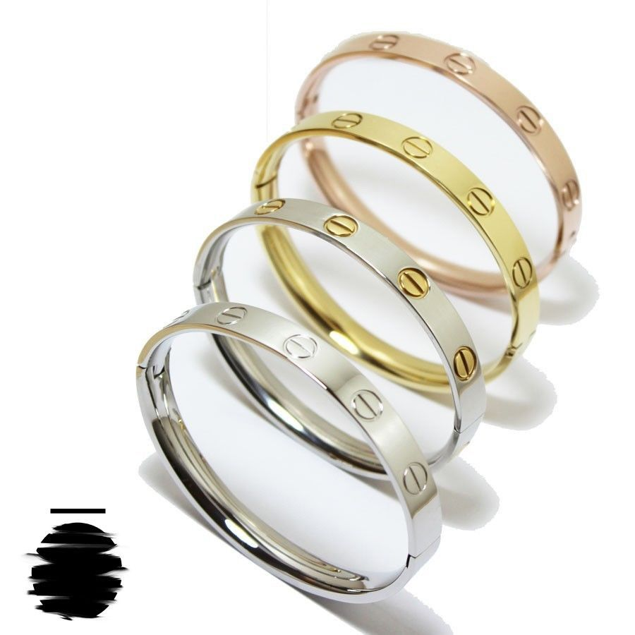 52331a45dab  38.29 at www.izanoir.com Cartier Inspired Replica Love Bracelet without  Crystal in Gold
