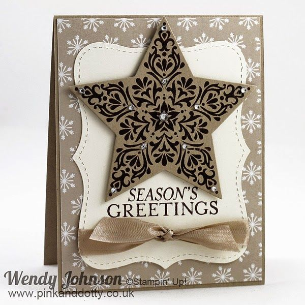 bright beautiful card  stampin up  stamped christmas