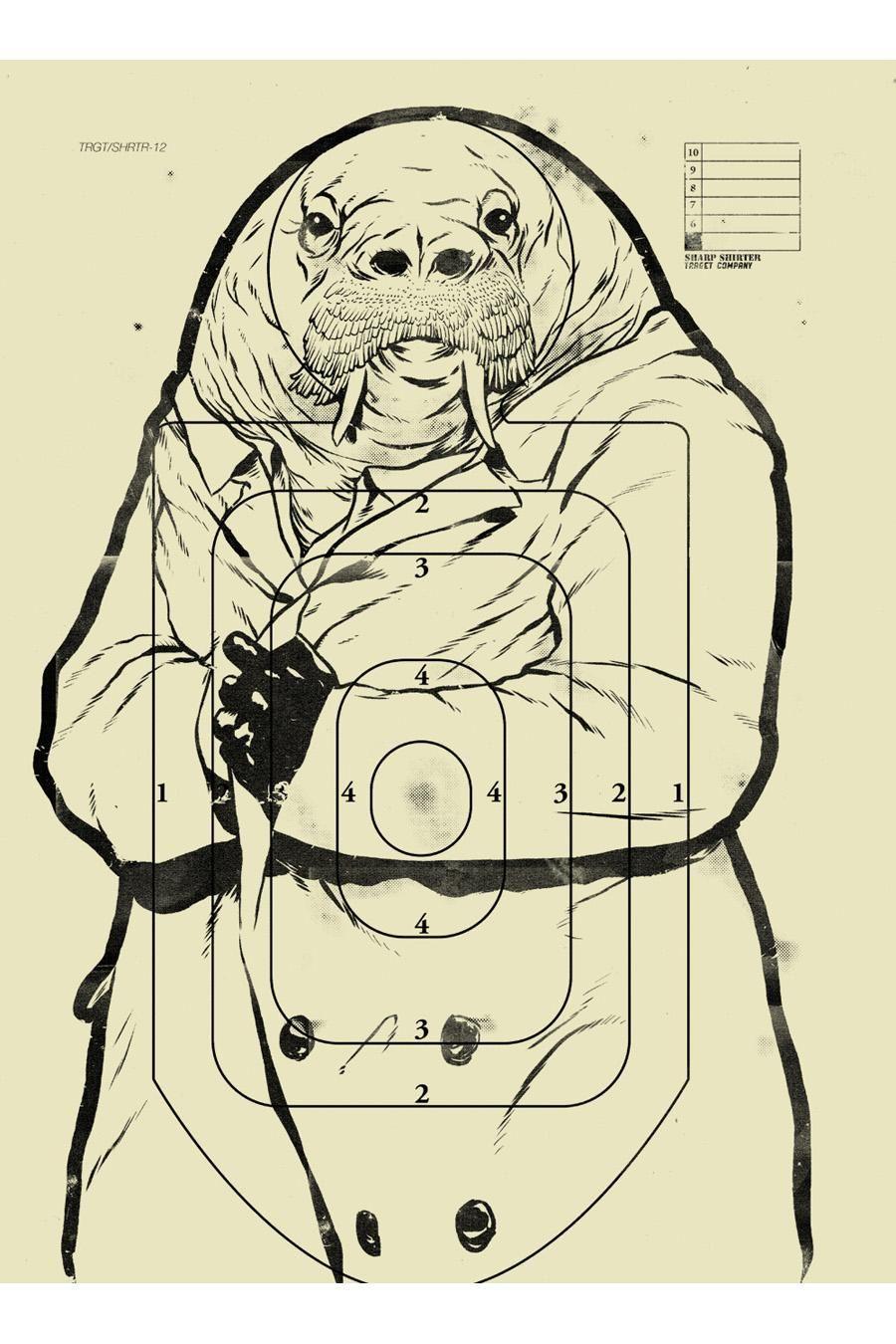 Sharp Shirter Sketchy Walrus Poster