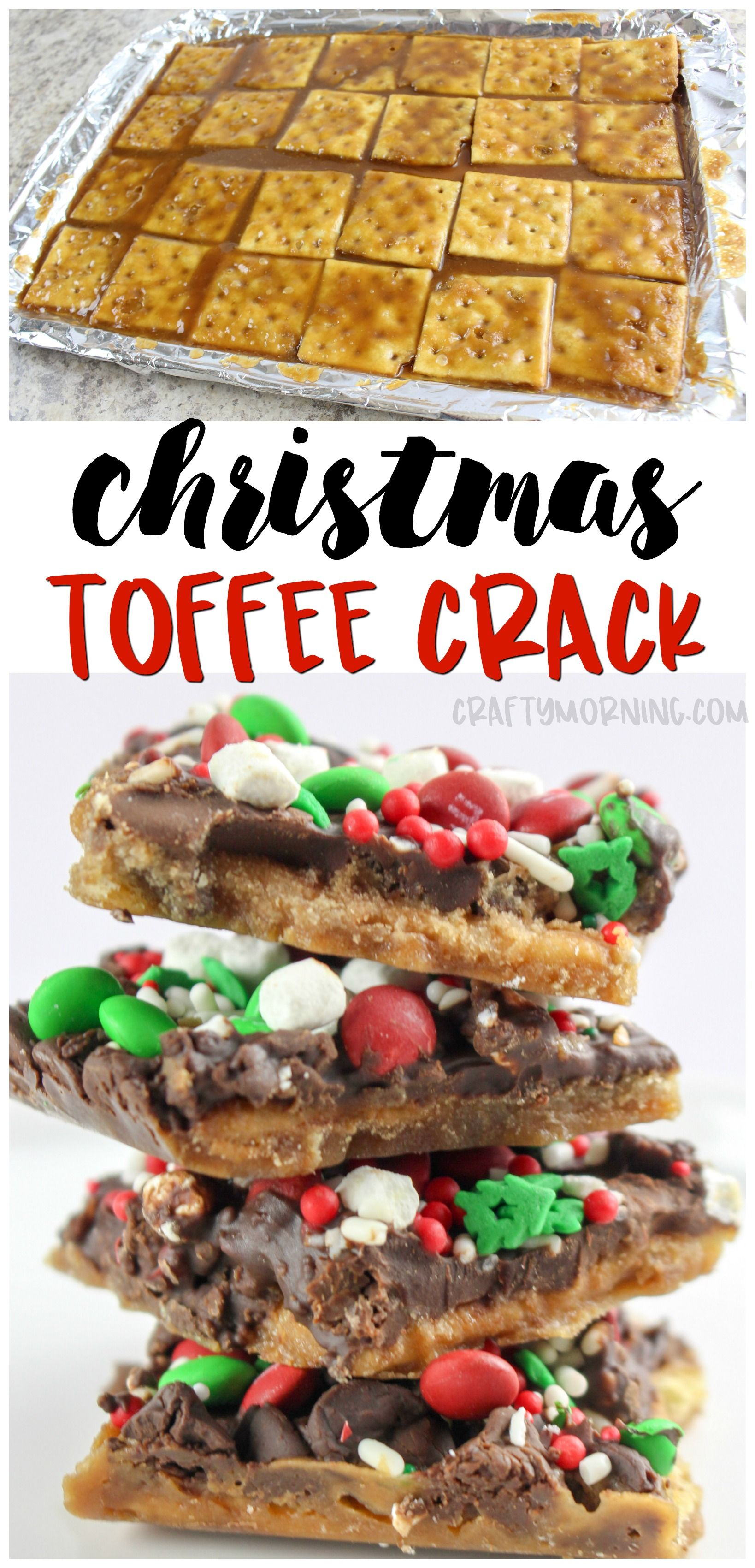 christmas crack recipe using saltine crackers to make a toffee treat theres a reason for the nameno one can stop eating it