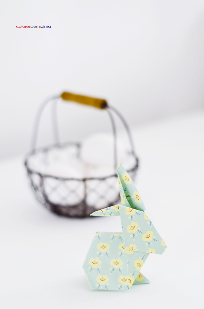 coloresdemialma: królik origami DIY