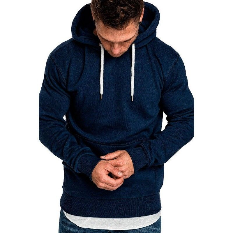 0f384edc969 2018 Hot Autumn New Hoodies Sweatshirts Brand Male long Sleeve Top Solid  Hoodie Pollovers Mens Black Red Big Size Poleron hombre