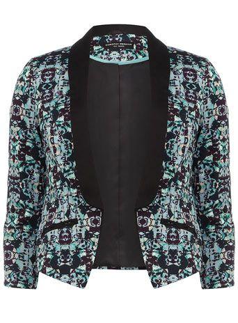 Aqua geo print jacket | Womens fashion casual, Fashion, Clothes