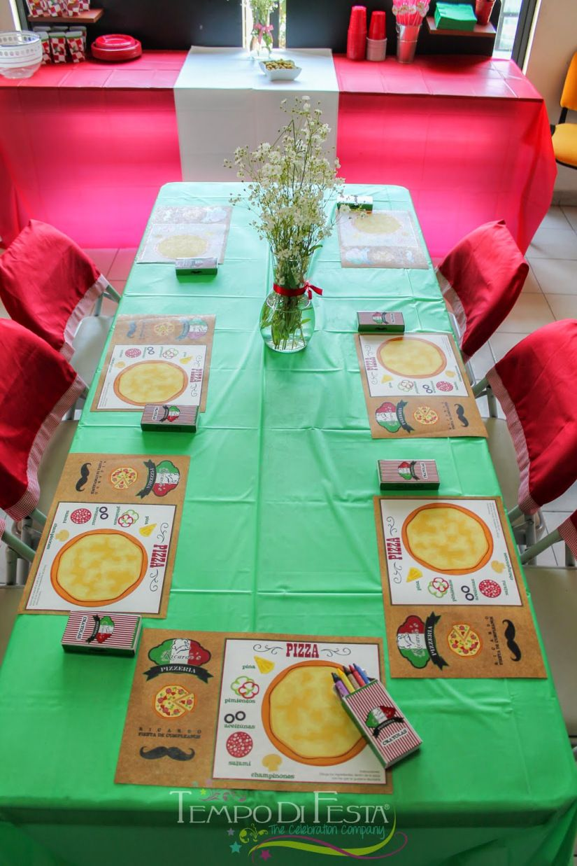 New Pizza Party Table Decorating Kits