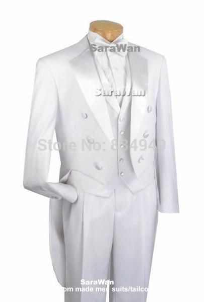 02920c93c16 Custom Made To Measure White Evening Tailcoats With Wide Notch Lapel  Bespoke Wedding Tailcoat Suit Tailored Groom Long Tail Suit-Men's Suits &  Blazers-Enso ...