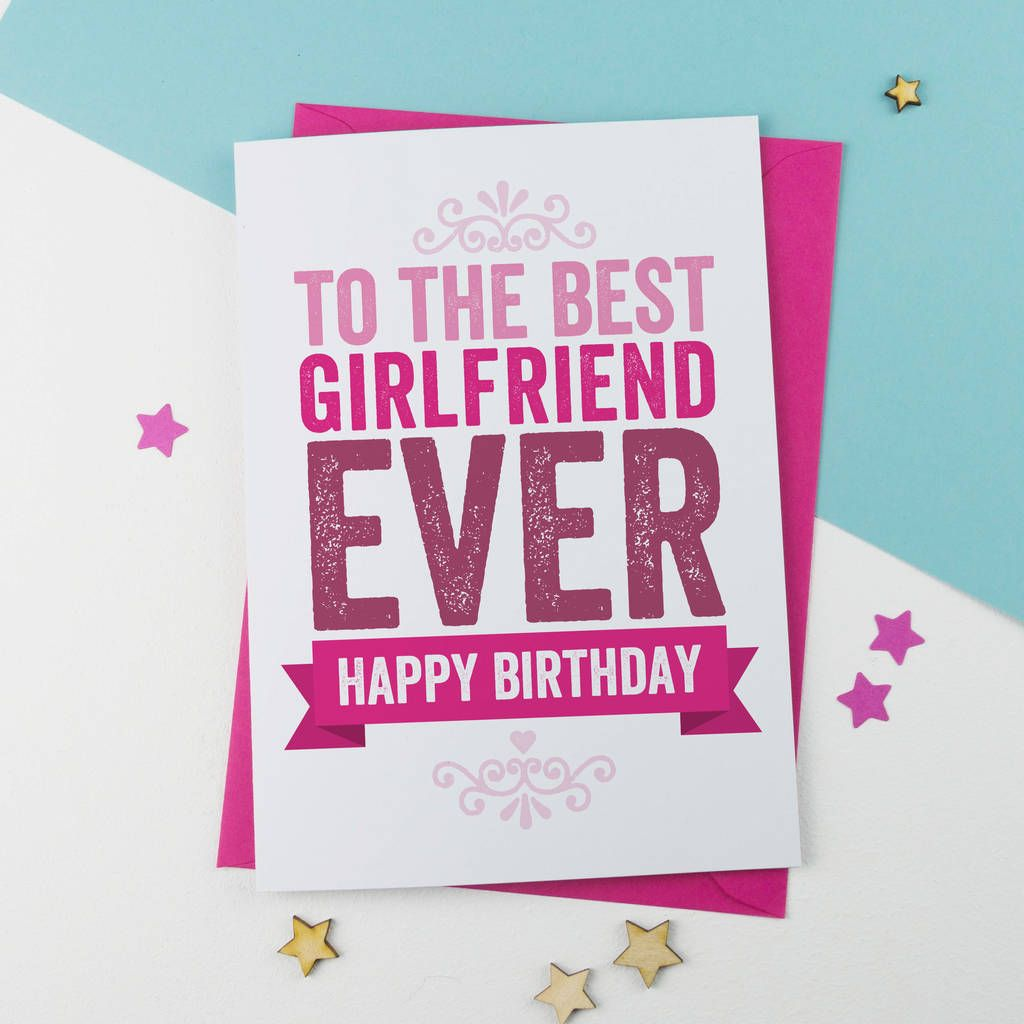 Lovely Birthday Card For Girlfriend - Happy Birthday Card For Gf | Birthday  cards for girlfriend, Birthday wishes for sister, Happy birthday sister
