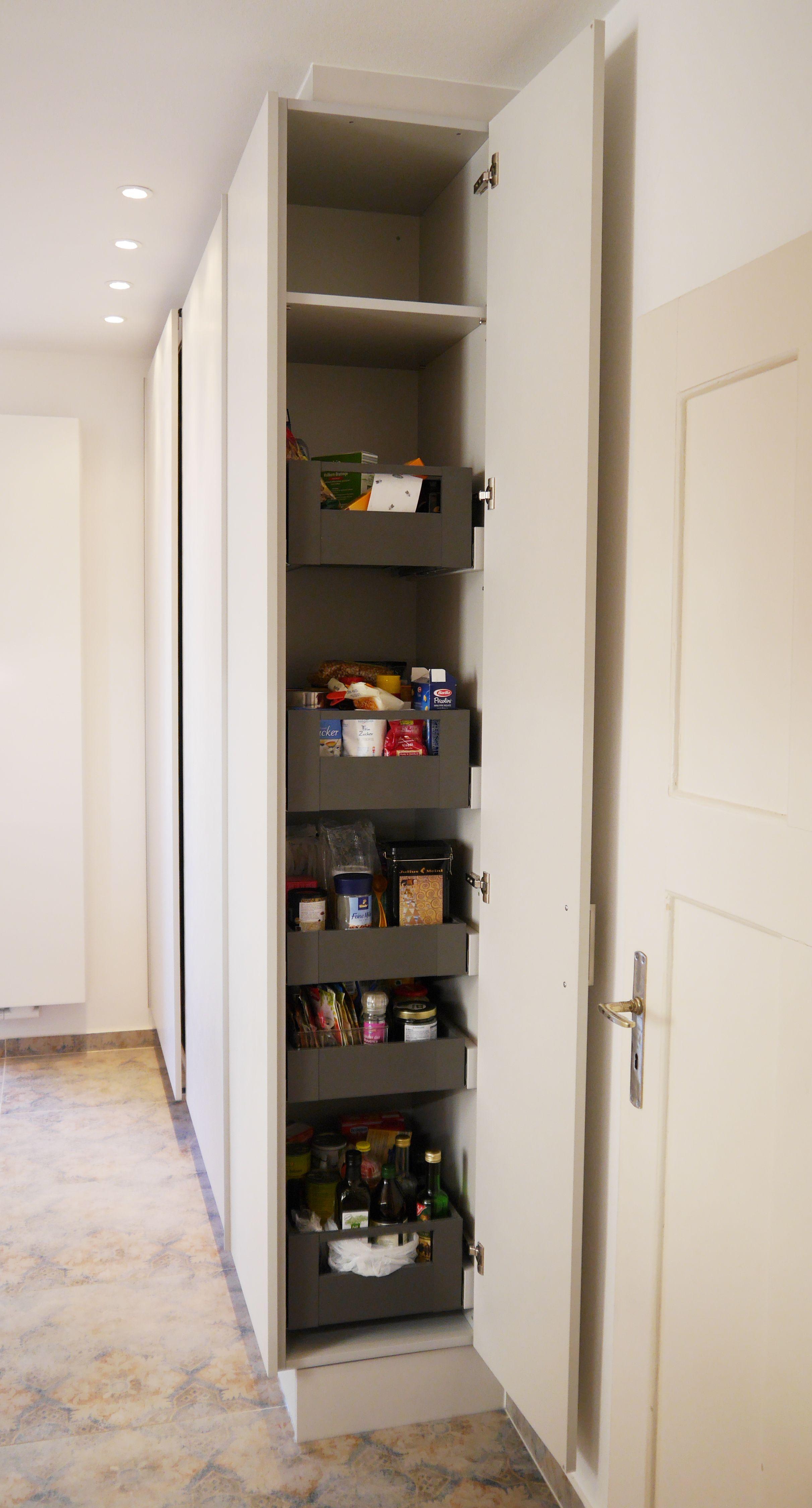 Apothekerschrank Seitlich Speicherideen Kleine Wohnung Viel Stauraum Kuchen Ideen Stauraum
