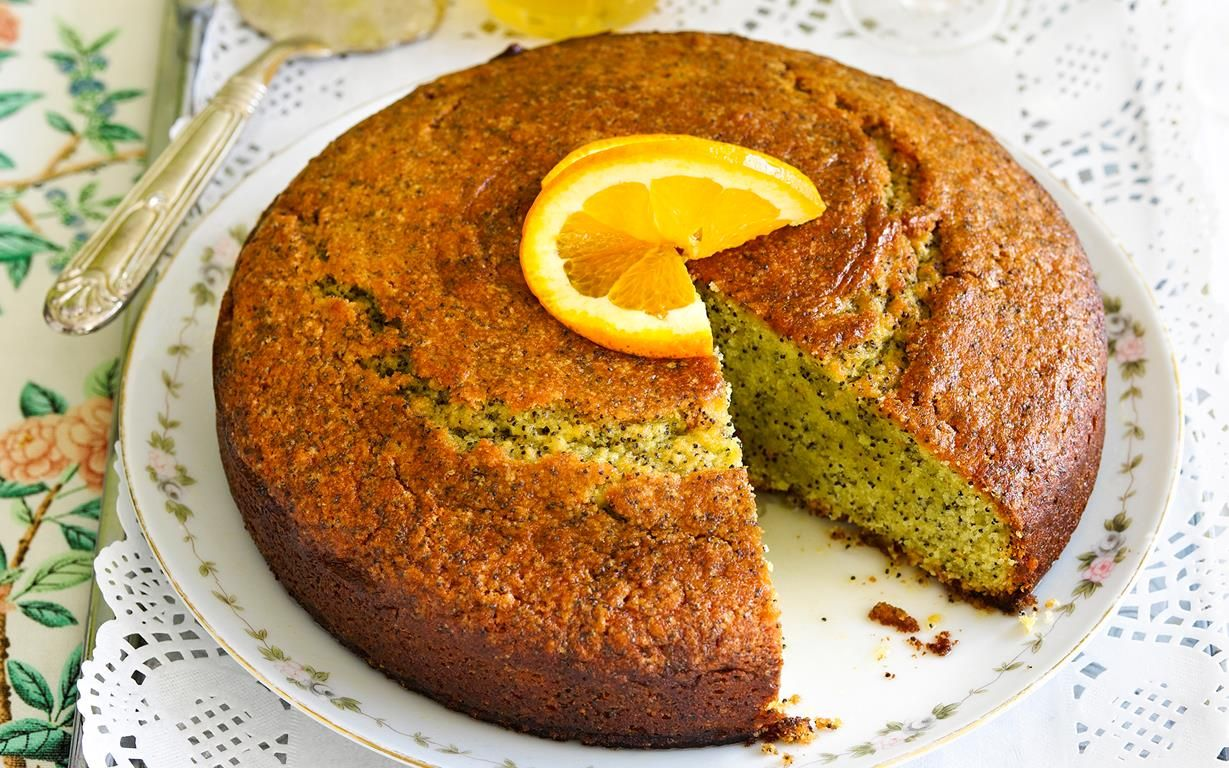 Simple recipe for orange poppyseed cake