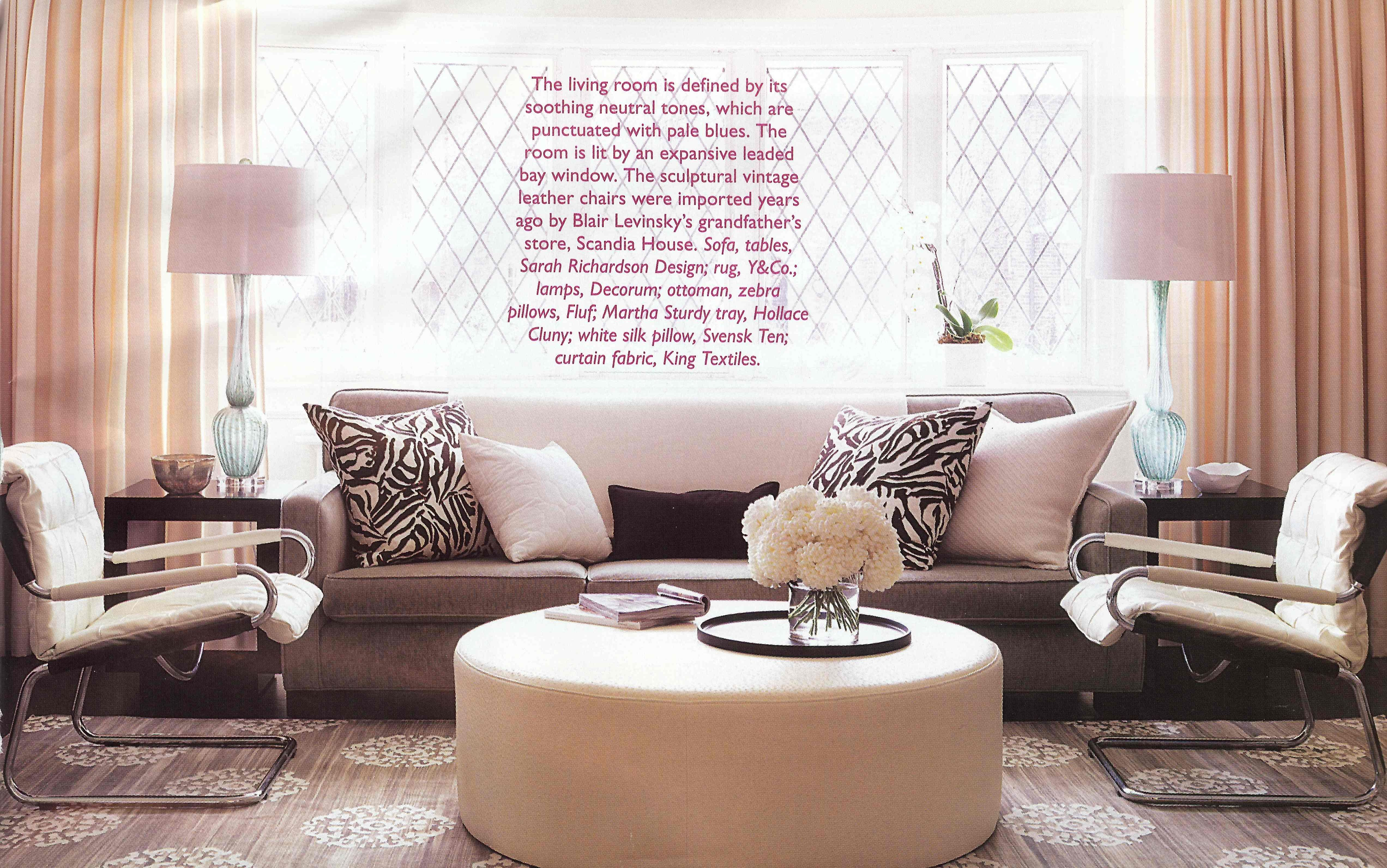neutral living room Canadian House & Home September