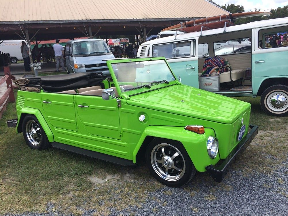 Head Turning Electric Green Vw Thing From H2o