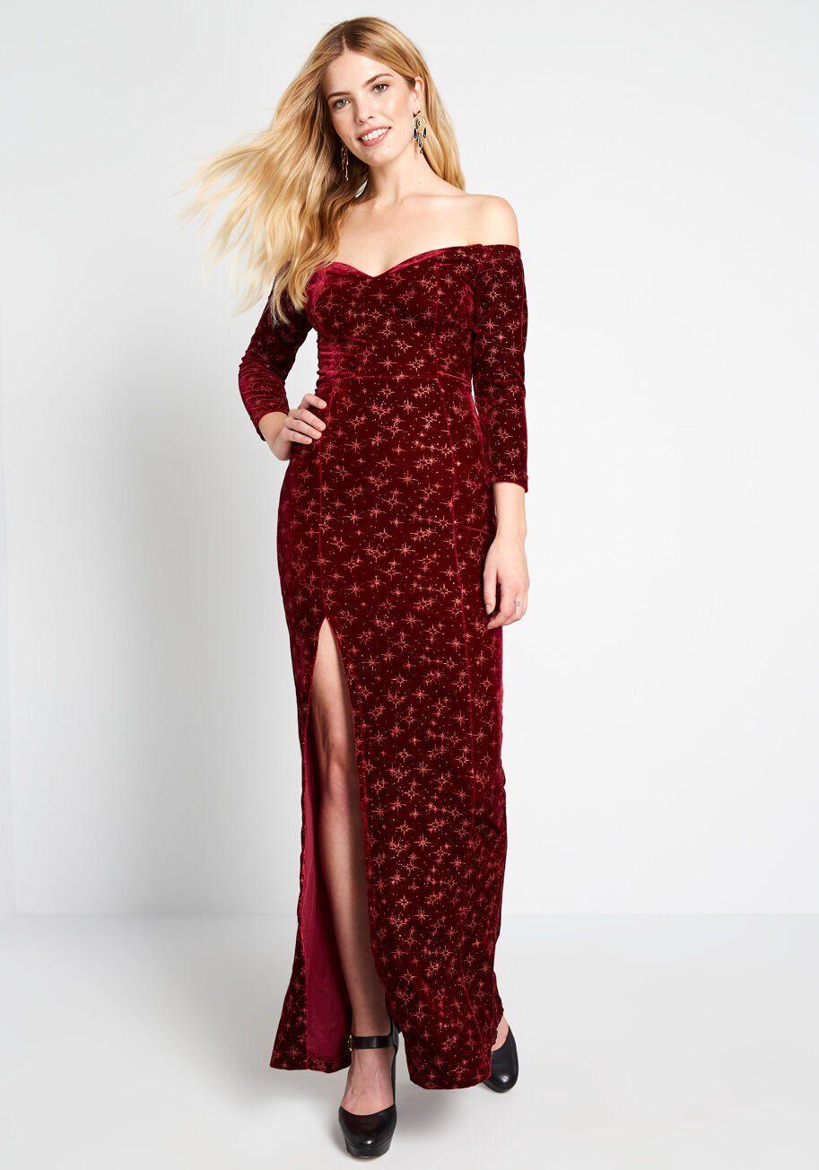 Superbly Sparkly Velvet Maxi Dress Channel the glamour