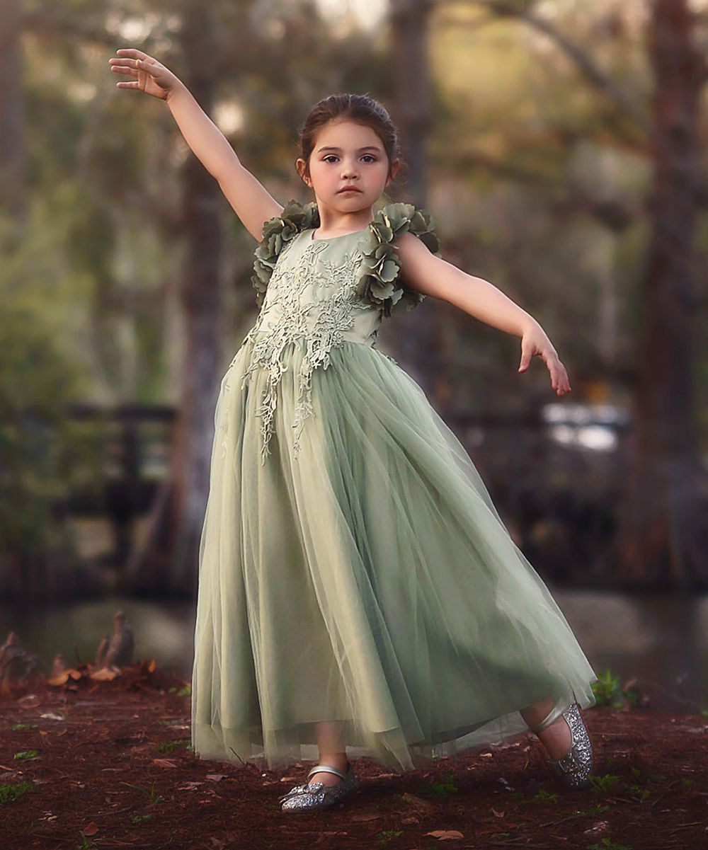 75ee366b2e5e Trish Scully Child Celadon Bianca Gown - Toddler   Girls
