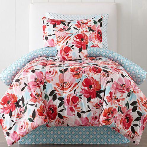 Home™ Jenna Floral Complete Bedding Set with Sheets | Bedding sets ...