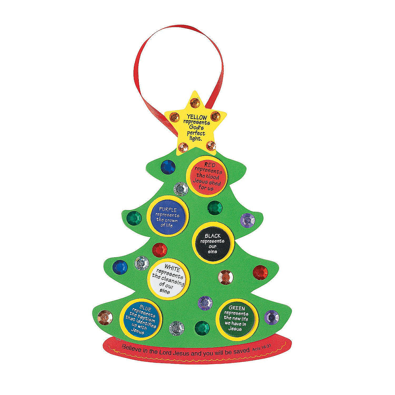 "Colors Of Faith"" Christmas Tree Craft Kit - OrientalTrading.com ..."