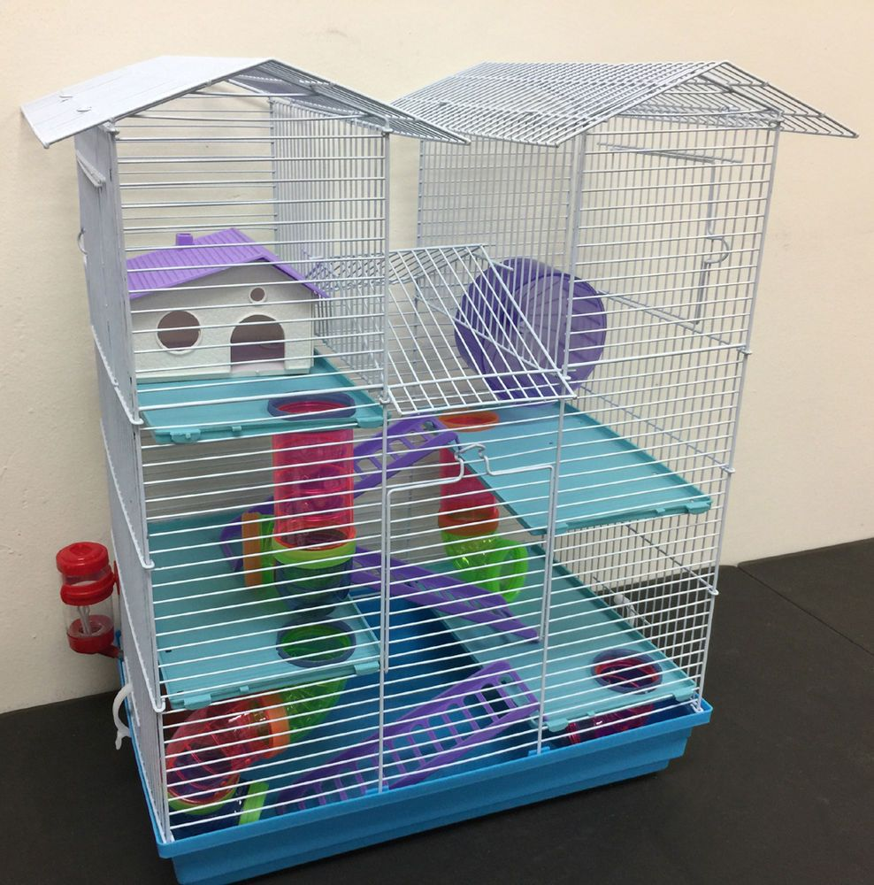 New Large Twin Towner Hamster Habitat Rodent Gerbil Mouse Mice