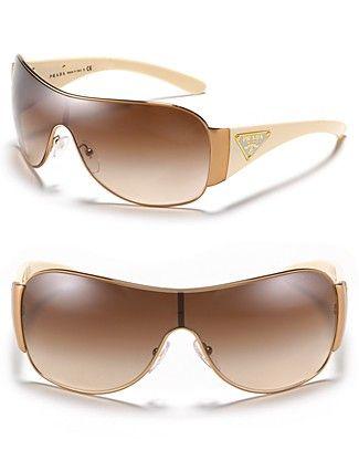 f82909c2d4c Prada Shield Sunglasses with Triangle Logo