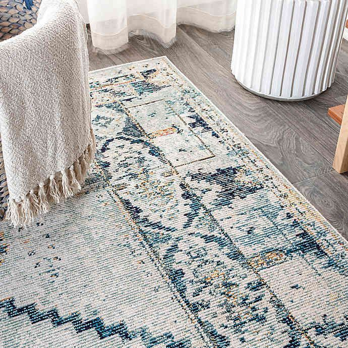 JONATHAN Y Osuna Diamond Vintage Medallion Area Rug in Indigo Blue.             Perfect Rug by JonathanY. Click through to find the best rugs to decorate your living room!. #JonathanY #HomeDecor #Rugs #ModernRug #PersianRug #MoroccanRug