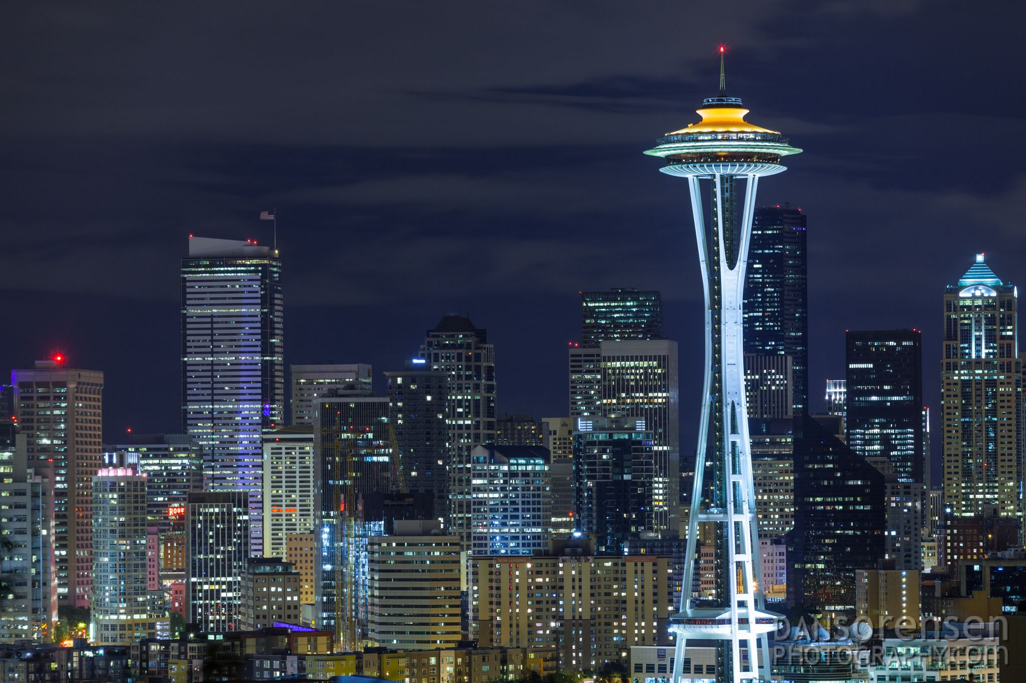 Seattle Space Needle Kerry Park Night Jpg 2048 1365 Visit