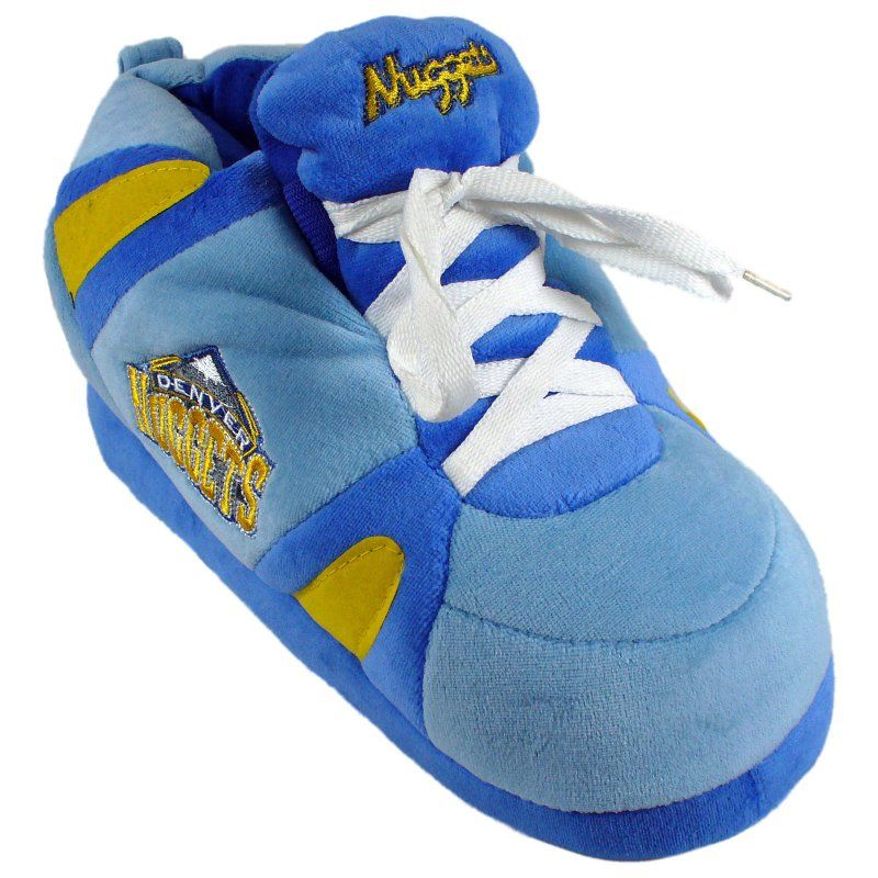Comfy Feet NBA Sneaker Boot Slippers - Denver Nuggets, Size: Medium (Mens 6 - 7.5/Womens 7 - 8.5) - DNU01MD