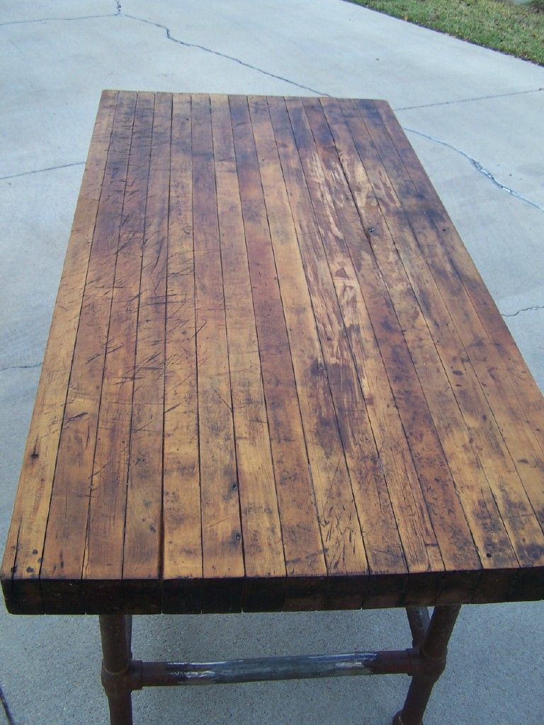 Butcher Block Farm Dining Table 1920s Butcher Block Table Kitchen Pinterest Rustic Feel