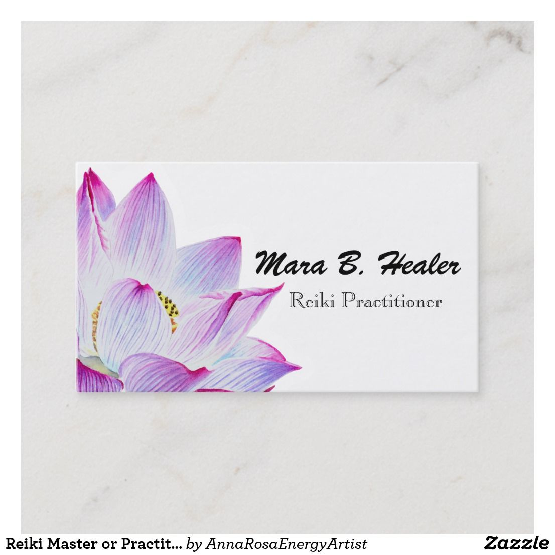 Reiki Master Or Practitioner Light Filled Business Business Card Zazzle Com Pink Watercolor Watercolor Lotus Reiki Master