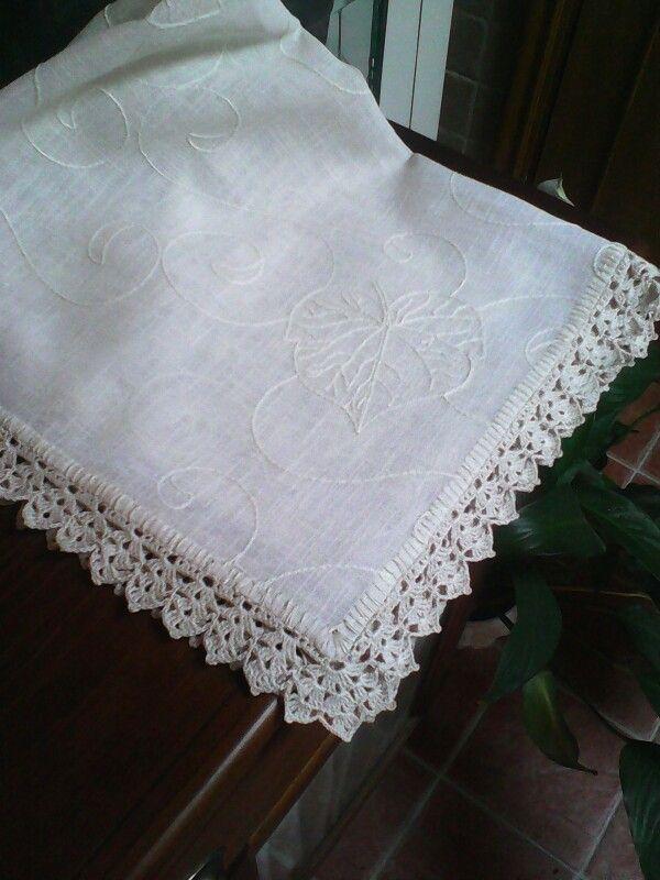 Otro mantel con ganchillo   manteles y toallas   Pinterest   Mantel ...